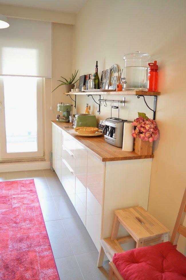 IKEA Mutfak Dolabı, IKEA Mutfak, IKEA Kitchen, Mutfak Dekorasyonu, Açık Mutfak Rafı, Kitchen Open Shelf