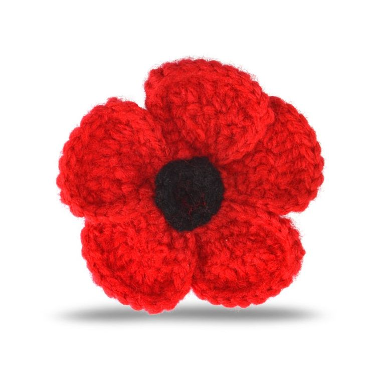 Poppy Collection Large Crochet Brooch