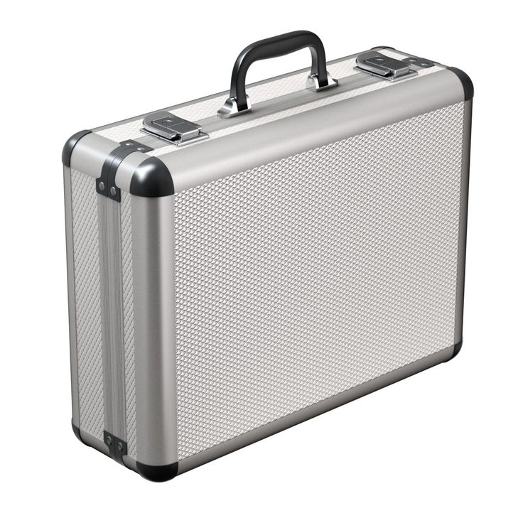 3d briefcase case metal model