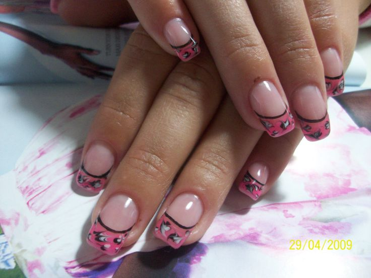 Color French nail designs by Natalia at Adore Salon