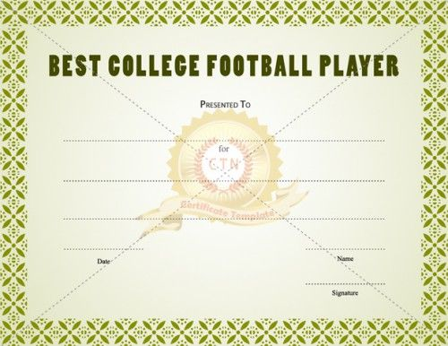 Best Sports Certificate Templates Images On