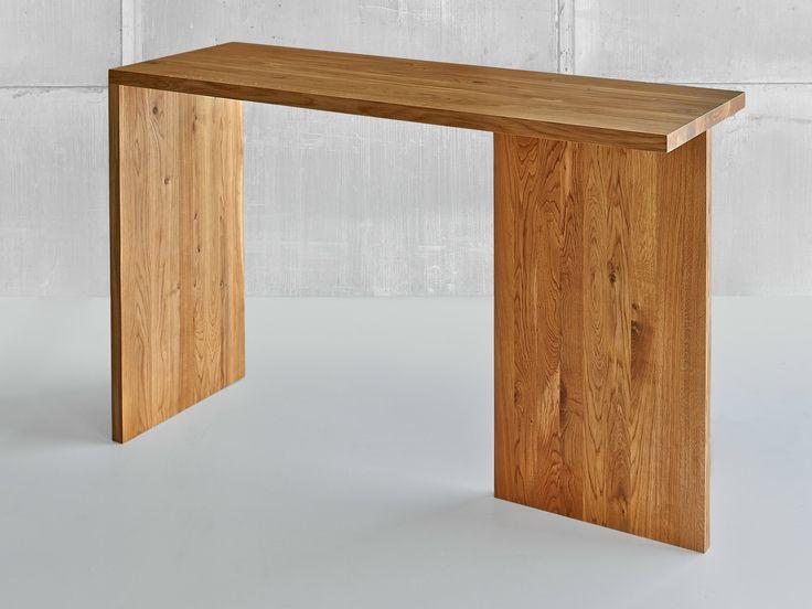 Mesa alta rectangular de madera maciza Colección Mena by Vitamin design