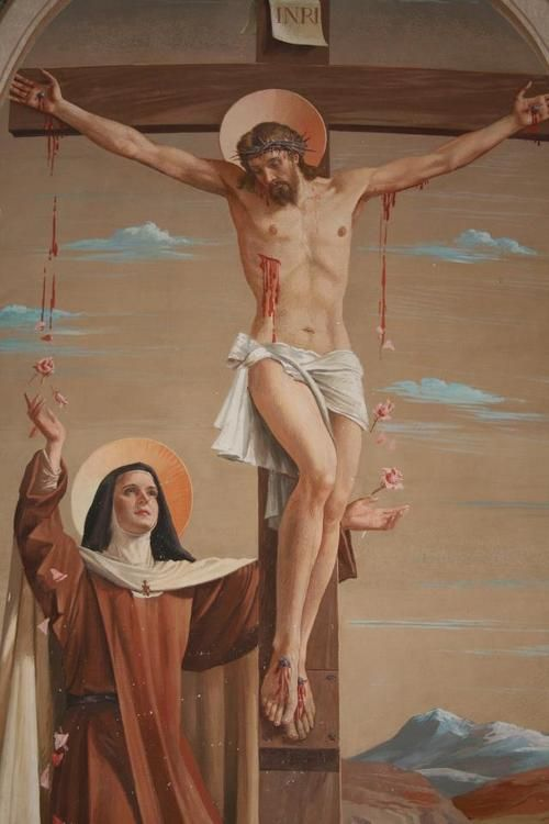 Discalced Carmelites often reverence a simple cross (without the Corpus) as a reminder that we, too, are to offer ourselves to Him by our daily crosses.