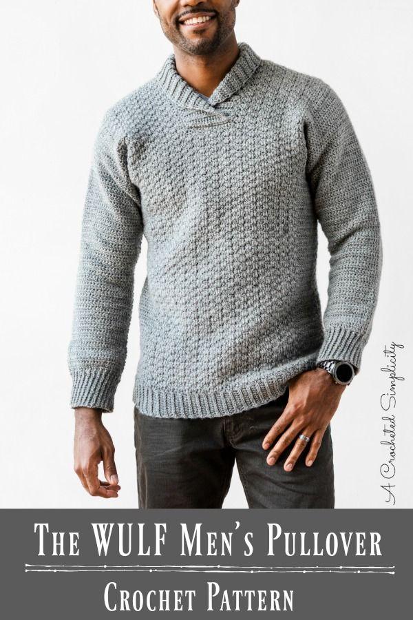 The WULF Men's Pullover pattern by Jennifer Pionk