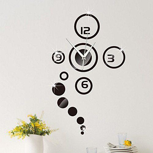 Forepin Diy Muraux Horloge Murale Autocollants Bricolage
