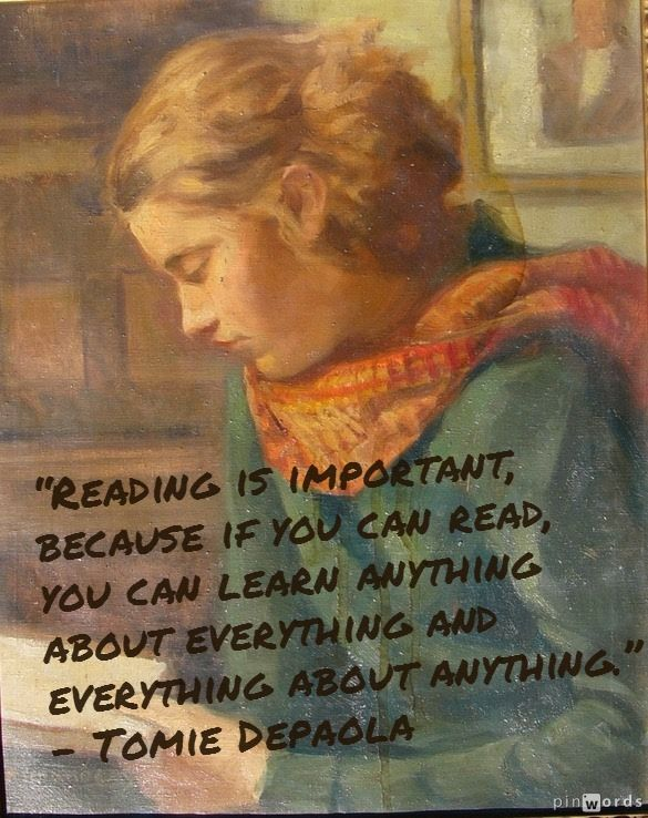 """Reading is important, because if you can read, you can learn anything about everything and everything about anything."" – Tomie Depaola #reading (painting by Rimanóczi Géza)"