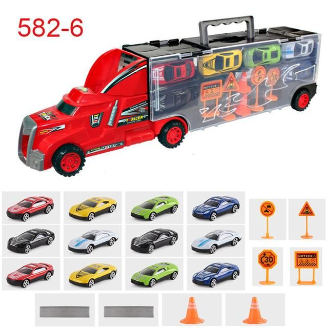 Traffic Scene Simulation Magic Toy Truck With City Map Traffic Parking Train Track Car Model Best Gift Car Toys For Boys Kids