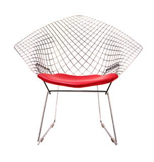 Knoll Bertoia Diamond Lounge Chair. I think that the chair pad would look great with some type of unexpected print/pattern fabric.