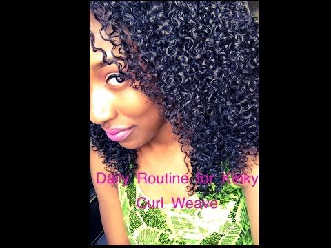 Daily Routine For Kinky Curly Hair: Her Hair Company - YouTube