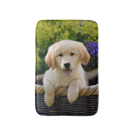 Charming Goldie Dog Cute Puppy Small Bath Mat #dog #dogs #doglover #doggifts