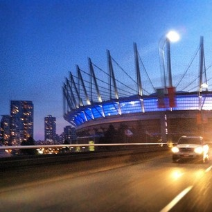 BC Place Stadium. Home to the Vancouver Whitecaps MLS Soccer Team and the BC Lions Canadian Football Team.