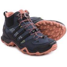 adidas outdoor Terrex Swift R Gore-Tex® Mid Hiking Shoes - Waterproof (For Women) in Black/Vista Grey/Vivid Mint - Closeouts