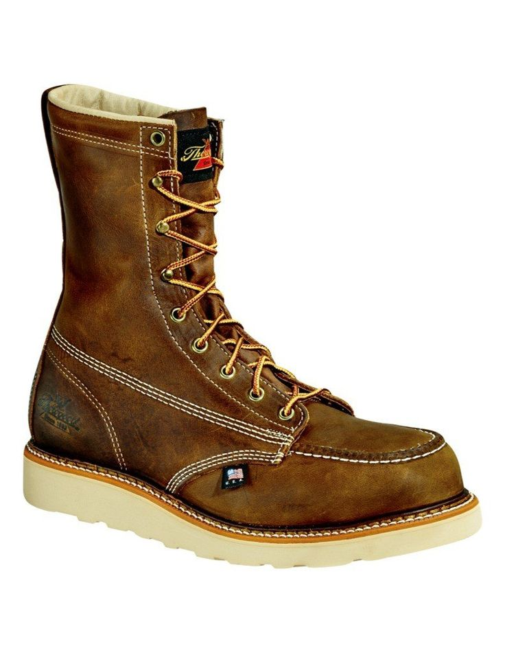 """Thorogood Men's 8"""" Wedge Sole Non-Safety Work Boot 814-4178 14 2E"""