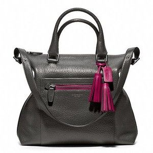 Coach Legacy Textured Leather Rory Satchel
