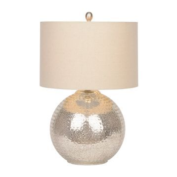 Antique Silver Hammered Glass Table Lamp | Kirklands