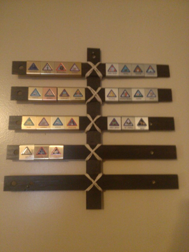 DIY Cub Scout Belt Loop Display for $1.50 using wooden rulers. Webelos Craftman #2 Requirement.