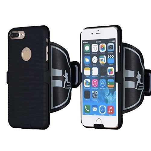 $7.19 (40% Off) on LootHoot.com - REENUO Sports Armband Case with Key Holder for Gym Running Jogging Hiking and Workout with ID Card Cash Holder for iPhone 7 Plus (5.5-Inch) Bundle with Screen Protector Black