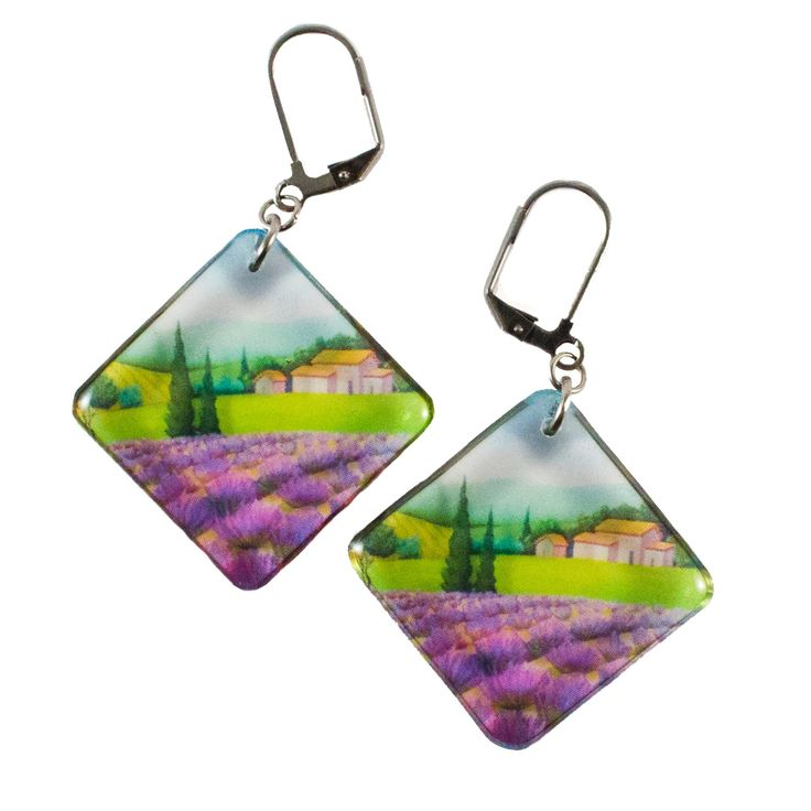 A personal favourite from my Etsy shop https://www.etsy.com/listing/266364884/transparent-provence-earrings