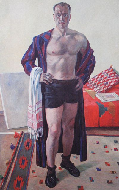 1948 SELF PORTRAIT by Alexandr Deyneka (1899~1969)