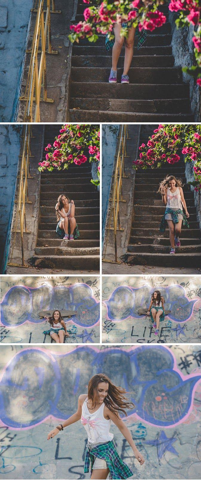 Bebel Tostes Fator Quinze Fotografia - Flores - Rua - Rampa - Grafite - Skate - 15 anos - Fator Quinze - Foto - Fotografia - Foto com luzes - Light - Lindas - Laranja - Vermelho - Branco - Rosa - Debutante - Foto de 15 anos - Quinze Anos