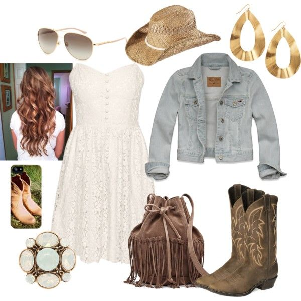 5f15bff59147 Cute Country Girl Outfit Look by natihasi on Polyvore | We Know How ...