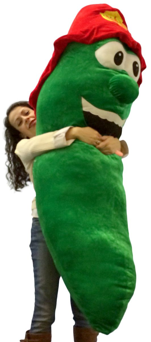 get out of a pickle with this giant stuffed pickle 66 inch huge five and a half feet tall. Black Bedroom Furniture Sets. Home Design Ideas