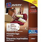 Magasinez Bureau en Gros pour Avery® – Étiquettes volantes avec cordons 22802 pour imprimantes à jet d''encre, 2 po x 3 1/2 po, paq./96 et profitez de bas prix quotidens, ainsi que tout ce dont vous avez besoin pour votre entreprise