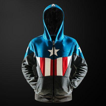 Captain America Hoodie //Price: $65.00 & FREE Shipping //     #superheroez #superheroes #marvel #dccomics