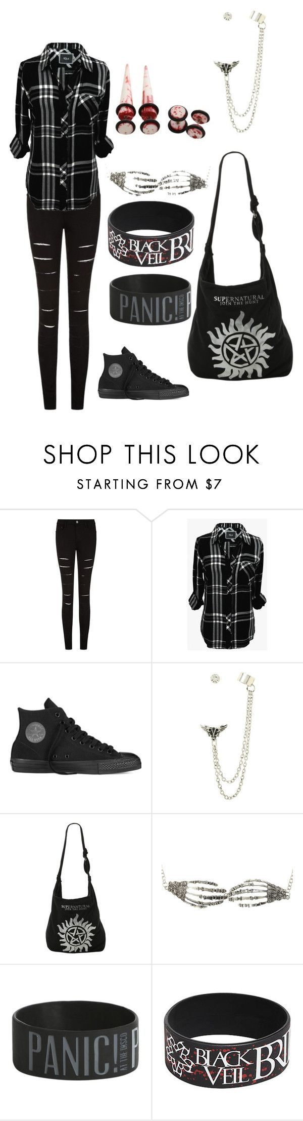 """""""Untitled #31"""" by unicorn1233 ❤ liked on Polyvore featuring Rails and Converse"""
