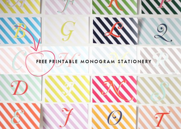 Personalize your thank you cards with one of these FREE printable monogram cards. A perfect size to show your guests gratitude! Click here to download all 26 letters. Simply print the page you want, cut out the shape (it's a … Continue reading →