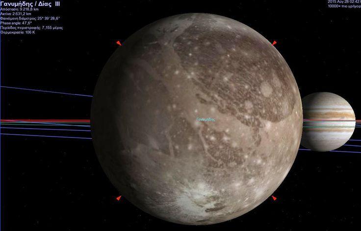 Δορυφόρος του Δία - Γανυμήδης