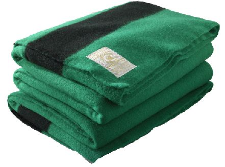 Hudson's Bay Green Wool 6 Point Queen - Sleep Accessories - Camp & Hike Accessories - Store Goods :: Duluth Pack :: Made in the USA :: Quality leather and canvas luggage, backpacks, camping, and outdoor gear,