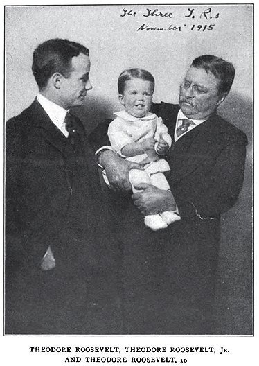 Three generations of Theodore Roosevelts.
