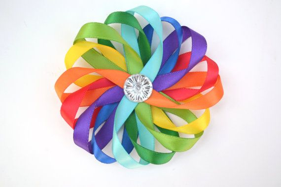 Hair clip for her outfit https://www.etsy.com/listing/163689205/rainbow-hair-clip-rainbow-hair-bow