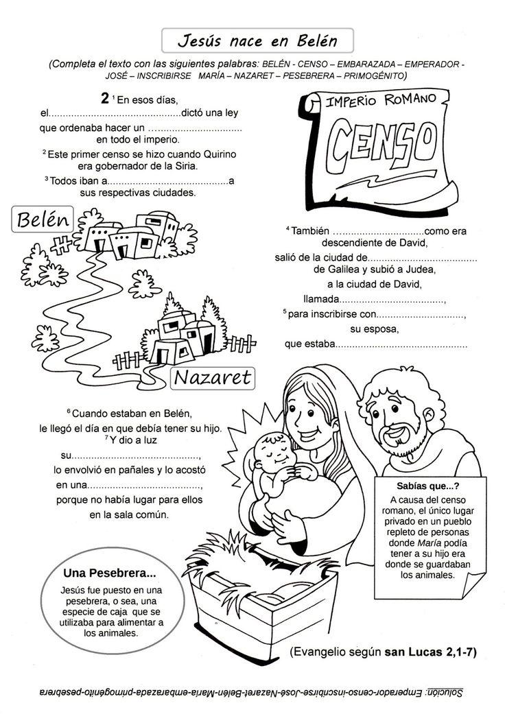 Ficha para trabajar la Natividad del Señor:                                                     J ugando con las formas (para los más chiq...