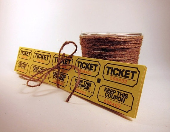Vintage Style Carnival Tickets - from @RusticWeddingStyle on Etsy - Use as photo booth tickets?