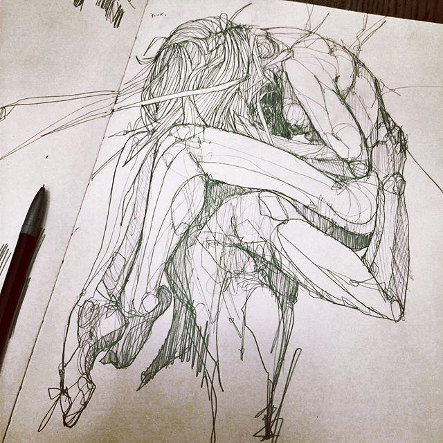 WEBSTA @ oneuglybastard - Lines. #scrabbleScribble #sketchy