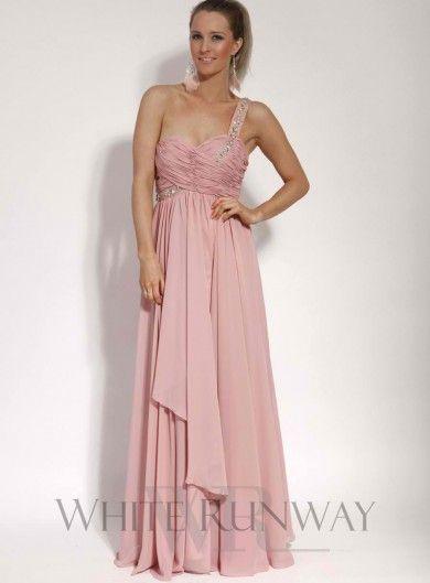 Embellished One Shoulder Dress