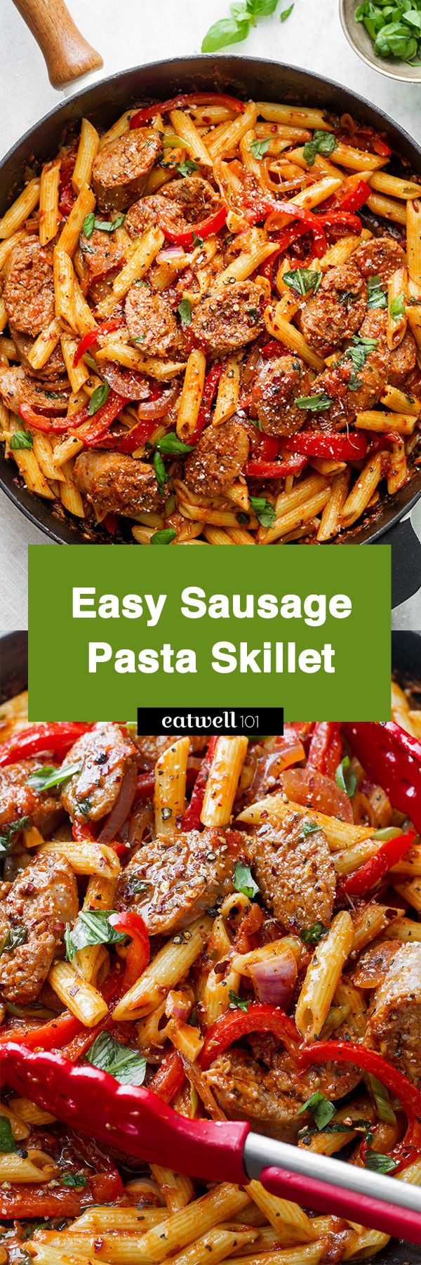 Sausage Pasta Skillet — A quick and easy skillet meal with incredible flavor, perfect for weeknight dinners with family.