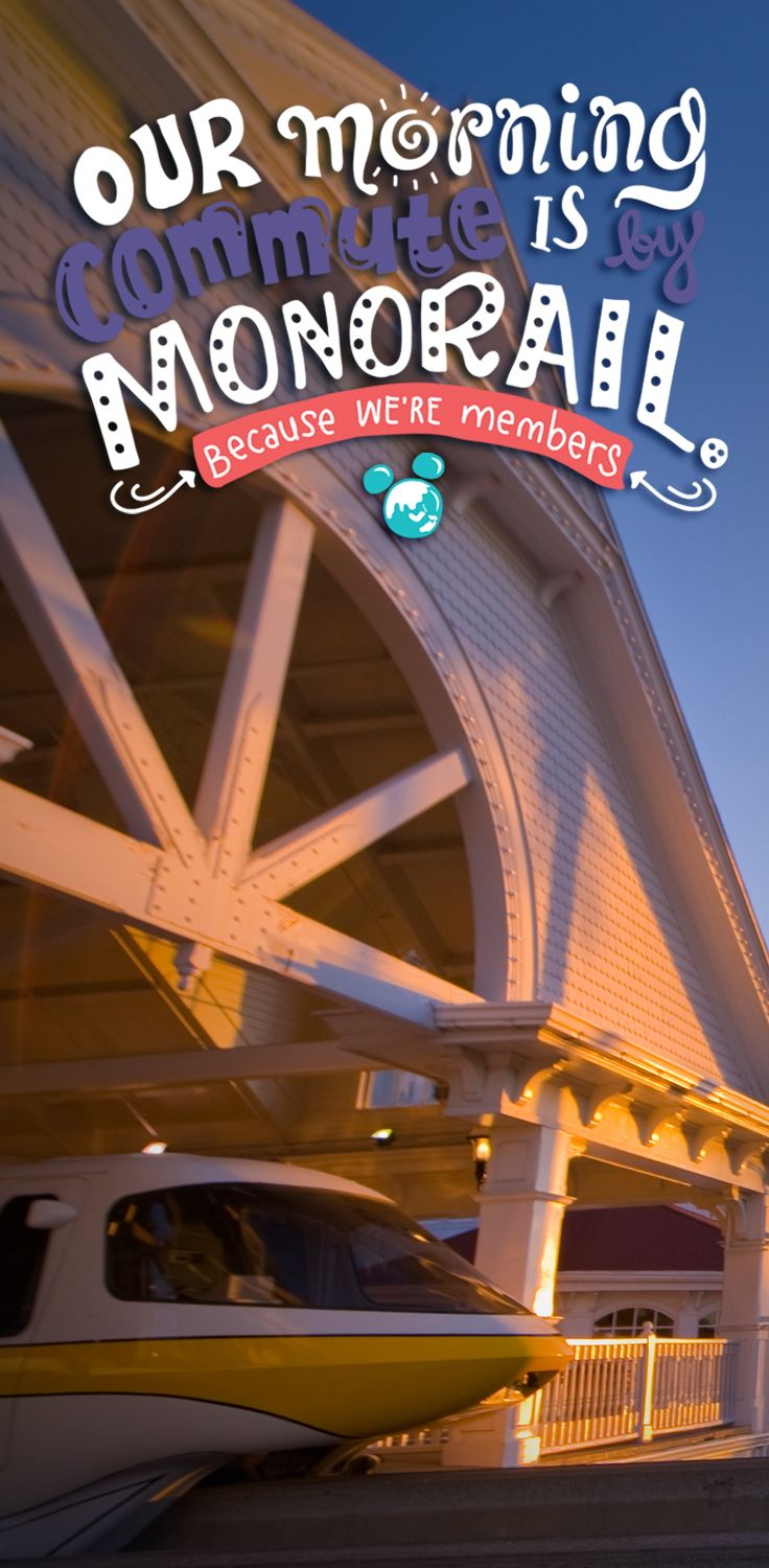 Because we're Members...our morning commute is by monorail. #DVCMember