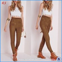 Woman wear wholesale faux suede high waist leggings for women fashion style women's pants Best Seller follow this link http://shopingayo.space