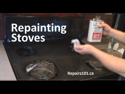 ▶ How to paint Oven Stove Range - My oven make over - YouTube
