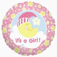 45cm Slumber Moon Girl $9.95 (filled with Helium in store) H86045