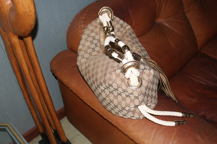 Gucci Techno Horsebit  Large Hobo Apricot and chocolate and Gold leather finishes