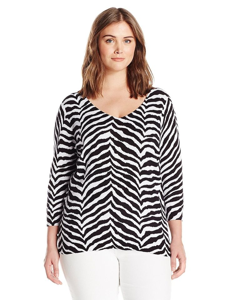 Women's Petite Three Quarter Sleeve Sweater – Black – C712N1BHU9S,Women's Clothi…