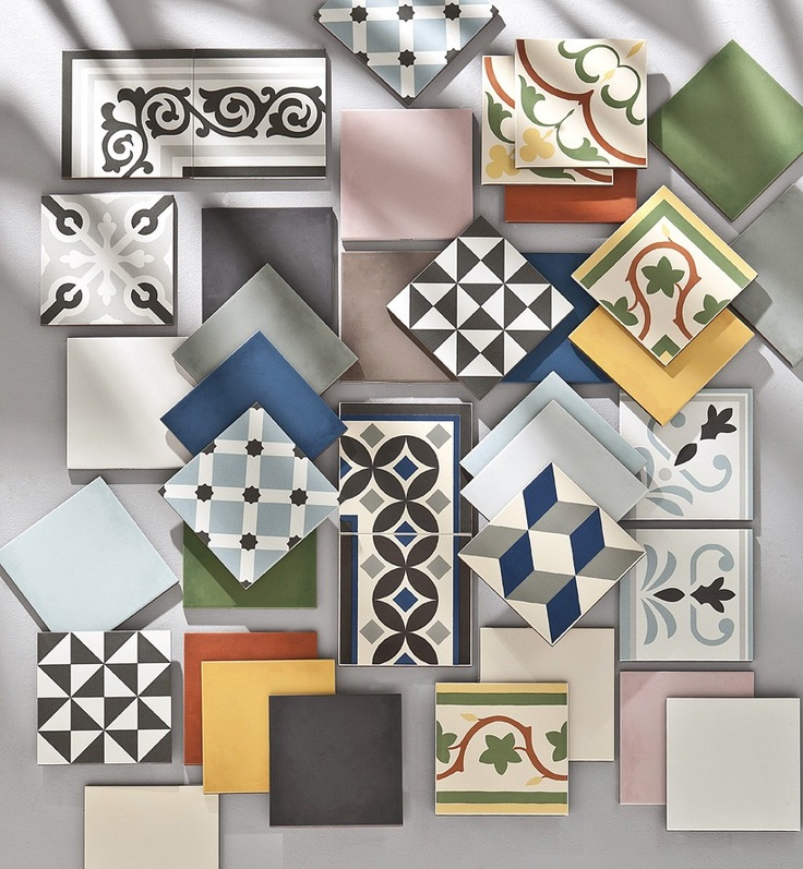 67 best deco carreaux de ciment images on pinterest for Carrelage imitation carreaux de ciment saint maclou