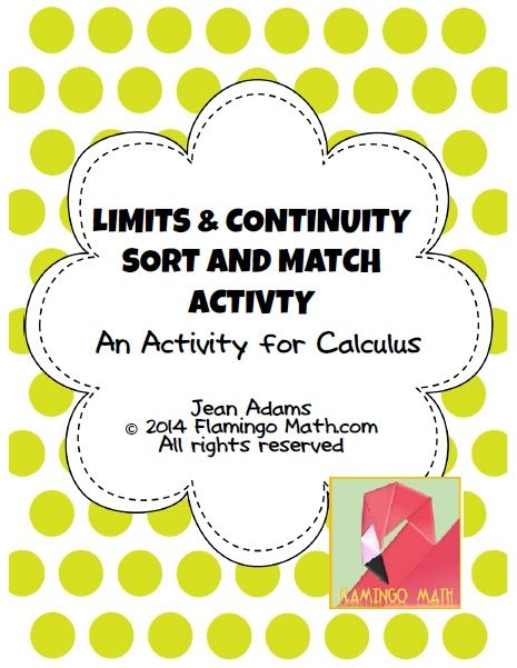 Worksheets Grade 12 Work Sheet On Limit And Continity 17 best images about calculus limits on pinterest activities and continuity sort match activity
