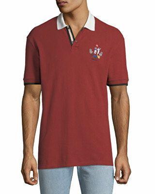 028d1cab Bally Designer Men's Animals Contrast-Trim Polo Shirt, Red ...