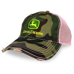 John Deere Ladies Pink and Camo Cap - John Deere Toys, Hats, Shirts, Replicas, and Merchandise
