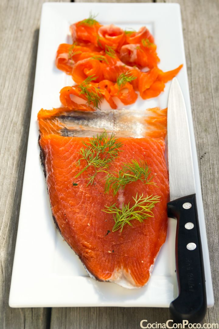 Como hacer salmon marinado en casa - Receta paso a paso